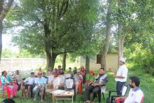 वडा सचिव श्री नारायण प्रसाद ओझा ज्यूले कार्यक्रमको उद्घाटन गर्दै र आफ्ना केहि भनाईहरु राख्दै